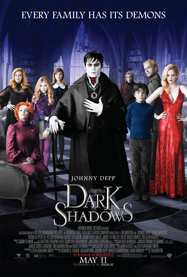 Affiche de « Dark Shadows » de Tim Burton