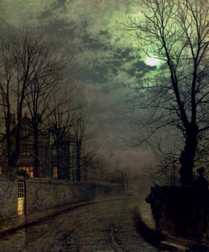 John Atkinson Grimshaw - a-lane-in-headingley-leeds