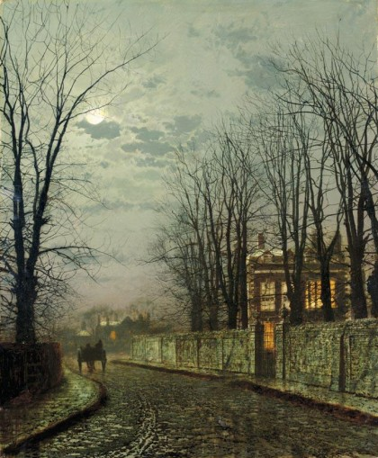 John Atkinson Grimshaw - a-wintry-moon