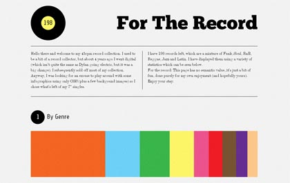 For the record, une création de Simon Foster