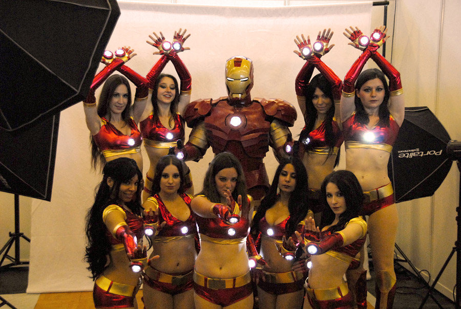 Japan Expo 2011 : Iron Man et ses Iron Girls