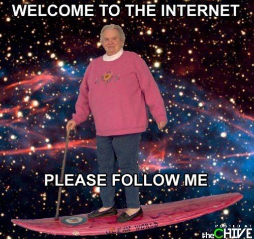 Bienvenue dans l'Internet.