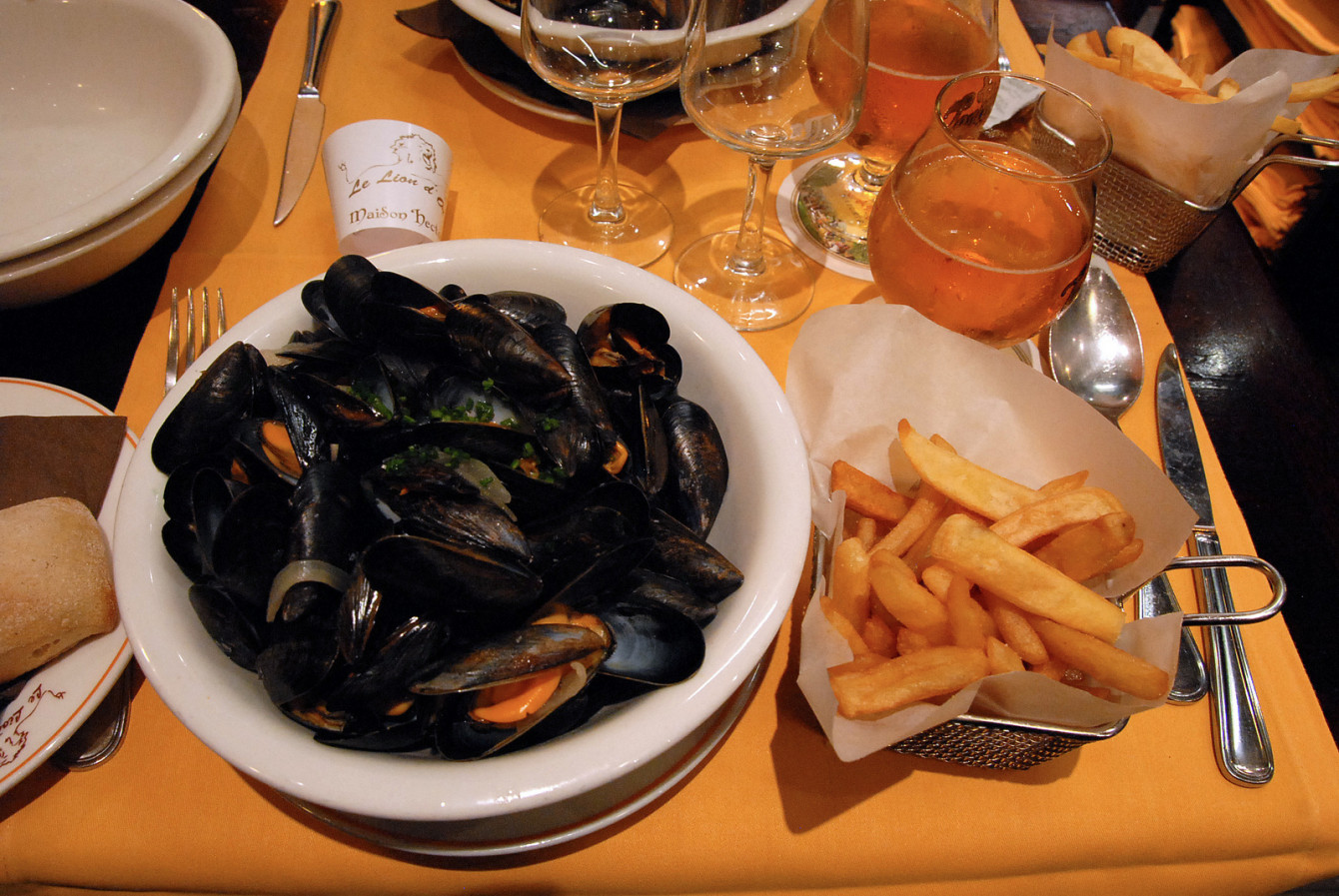 Moules-frites au Lion d'Or