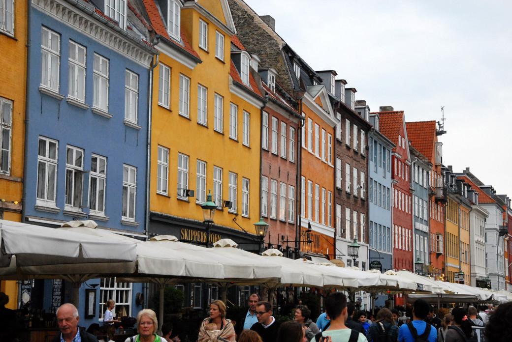 Maisons colorées à Copenhague