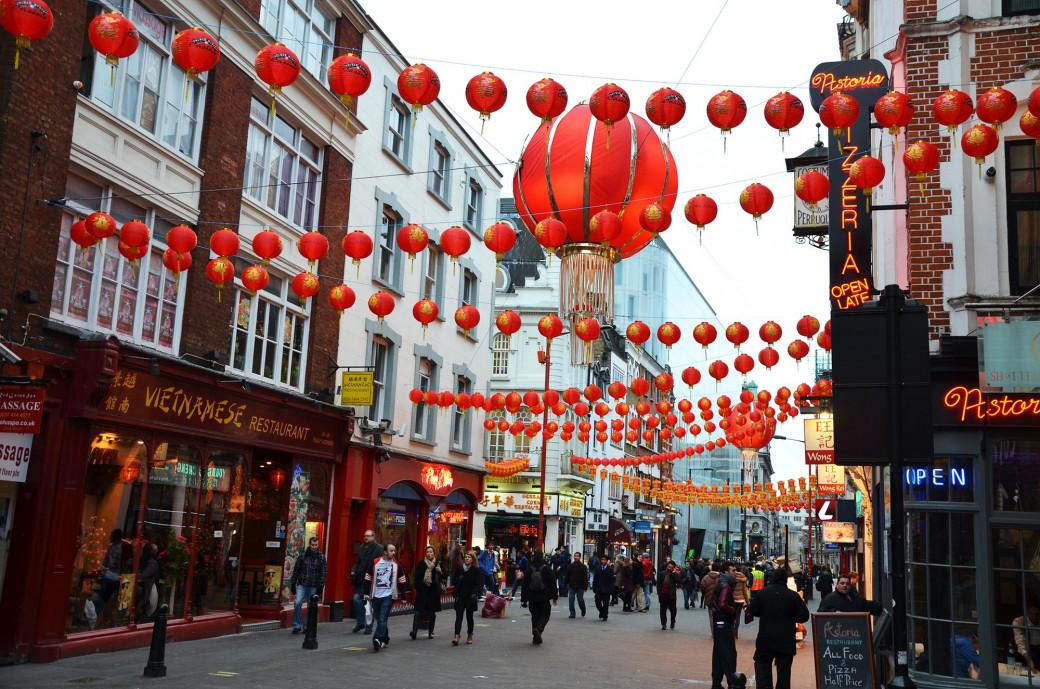 Le quartier chinois de Londres