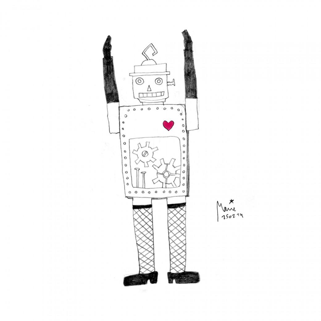 Défi dessin, jour 24: robot