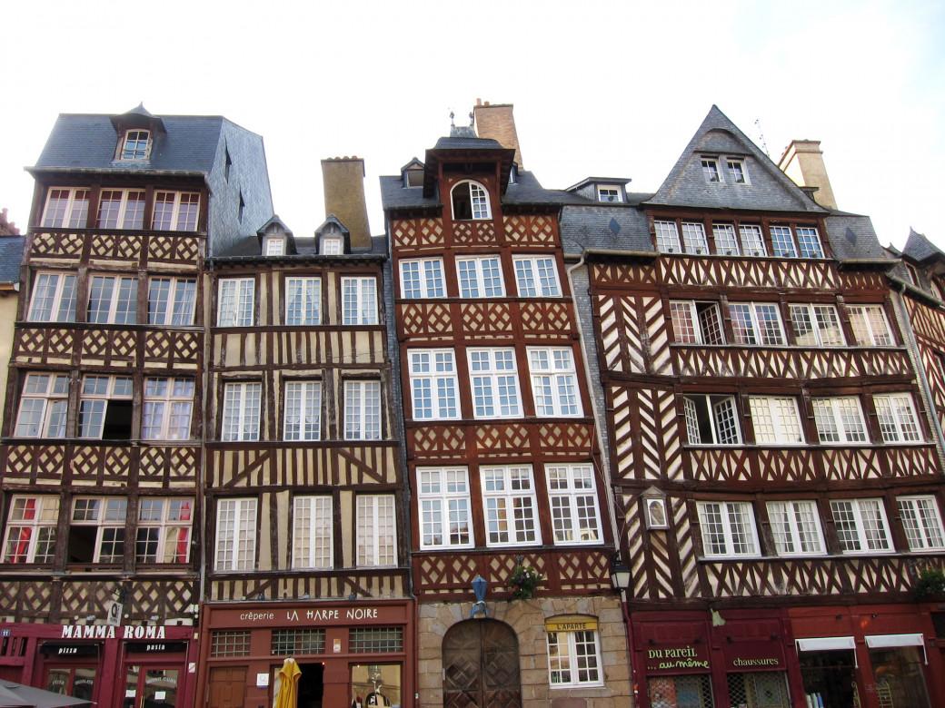 Maisons à colombages, Rennes