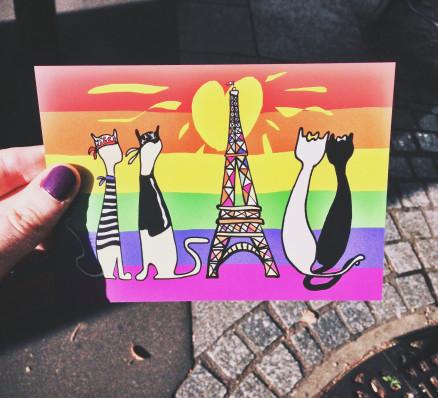 Chouette carte postale trouvée à Paris