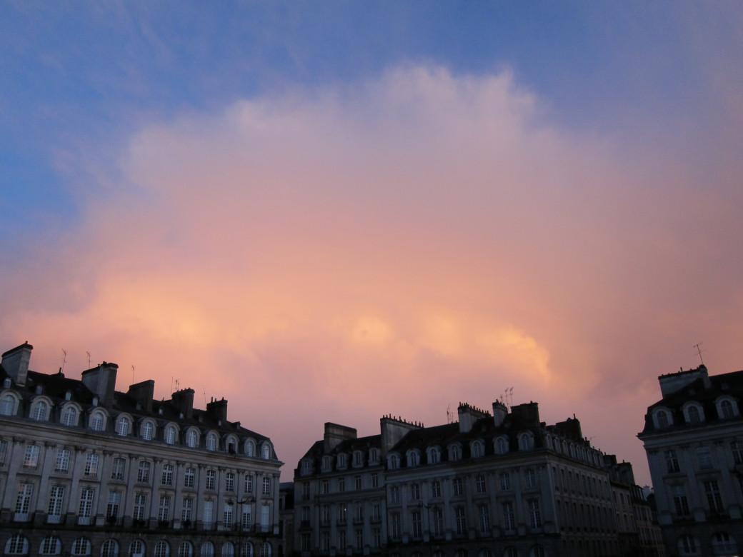 Coucher de soleil à Rennes