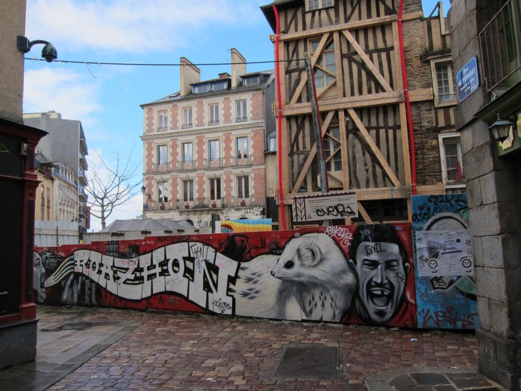 Graffiti breton, à Rennes
