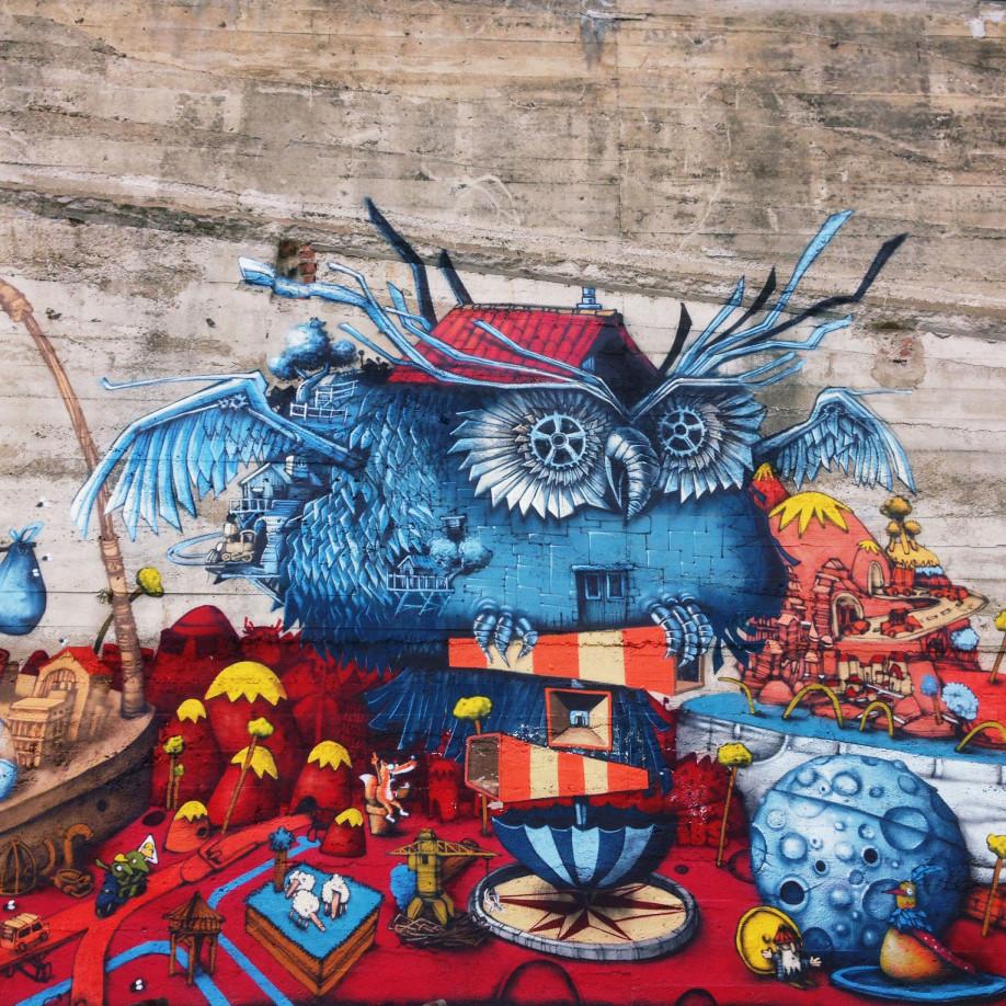 Street art de ouf vu à la Fabrique, à Nantes