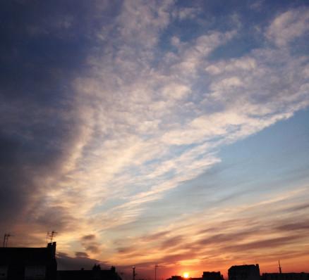 Le retour des beaux soleils couchants