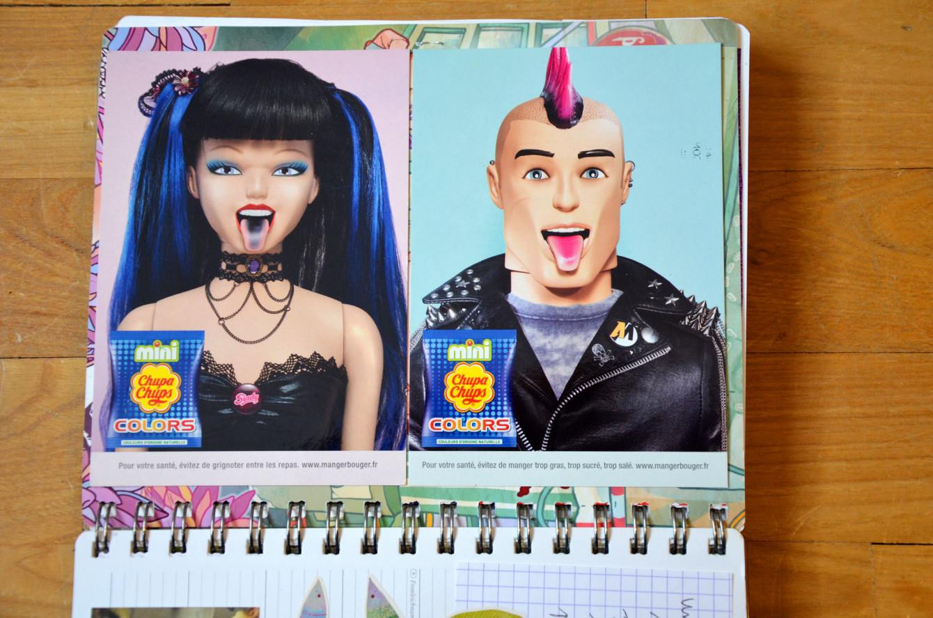 Barbie et Ken aiment les sucettes.