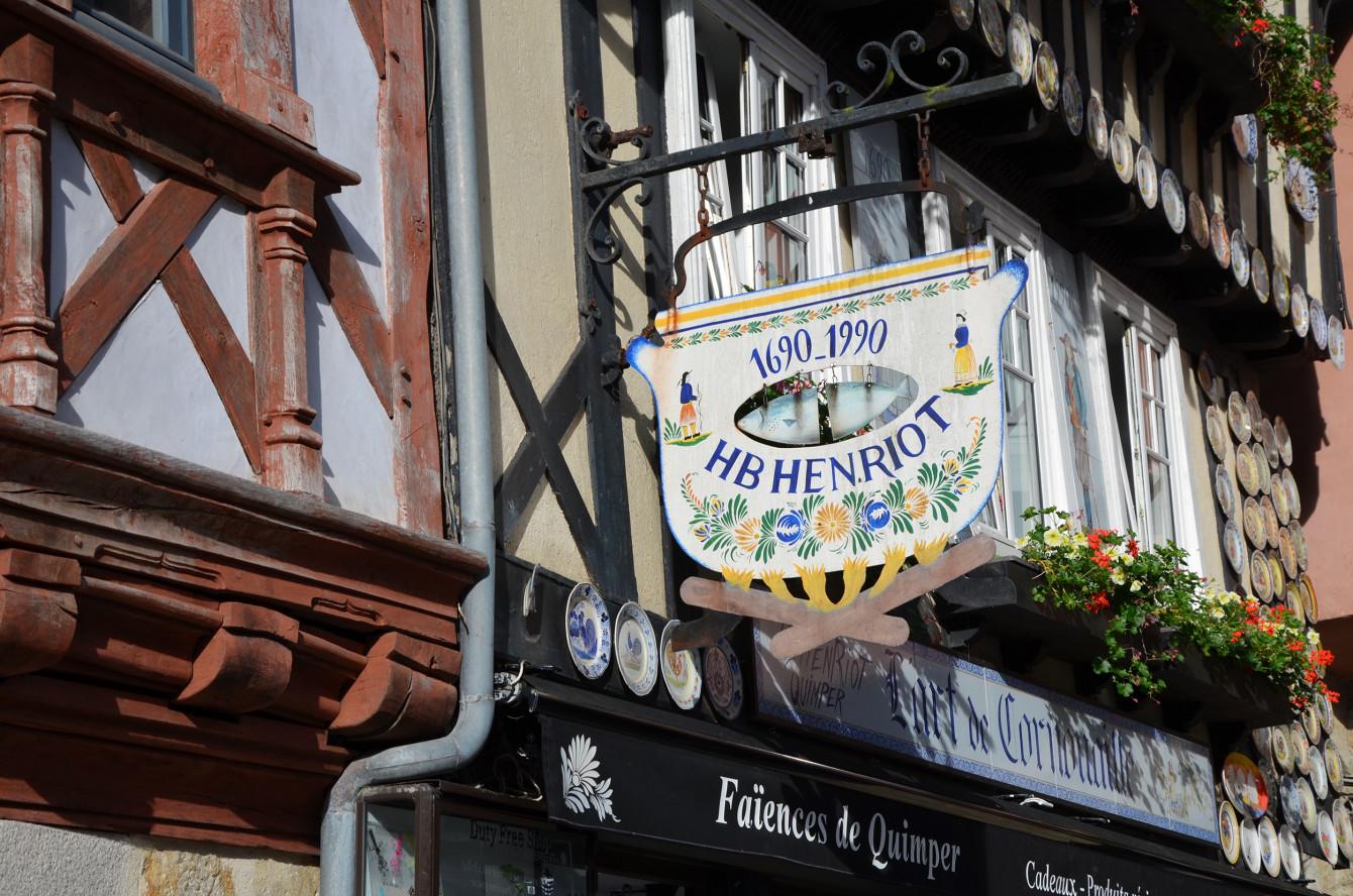 Quimper, connue pour ses bols bretons