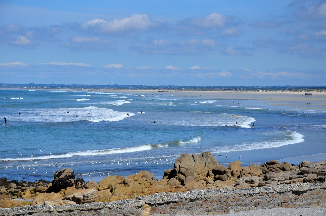 La Pointe de la Torche, paradis des surfeurs