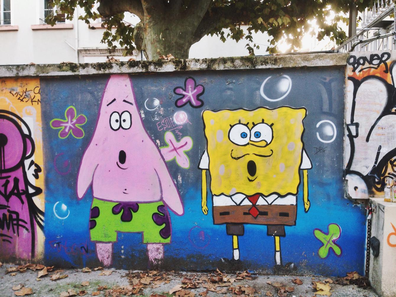 Street-art Bob l'éponge