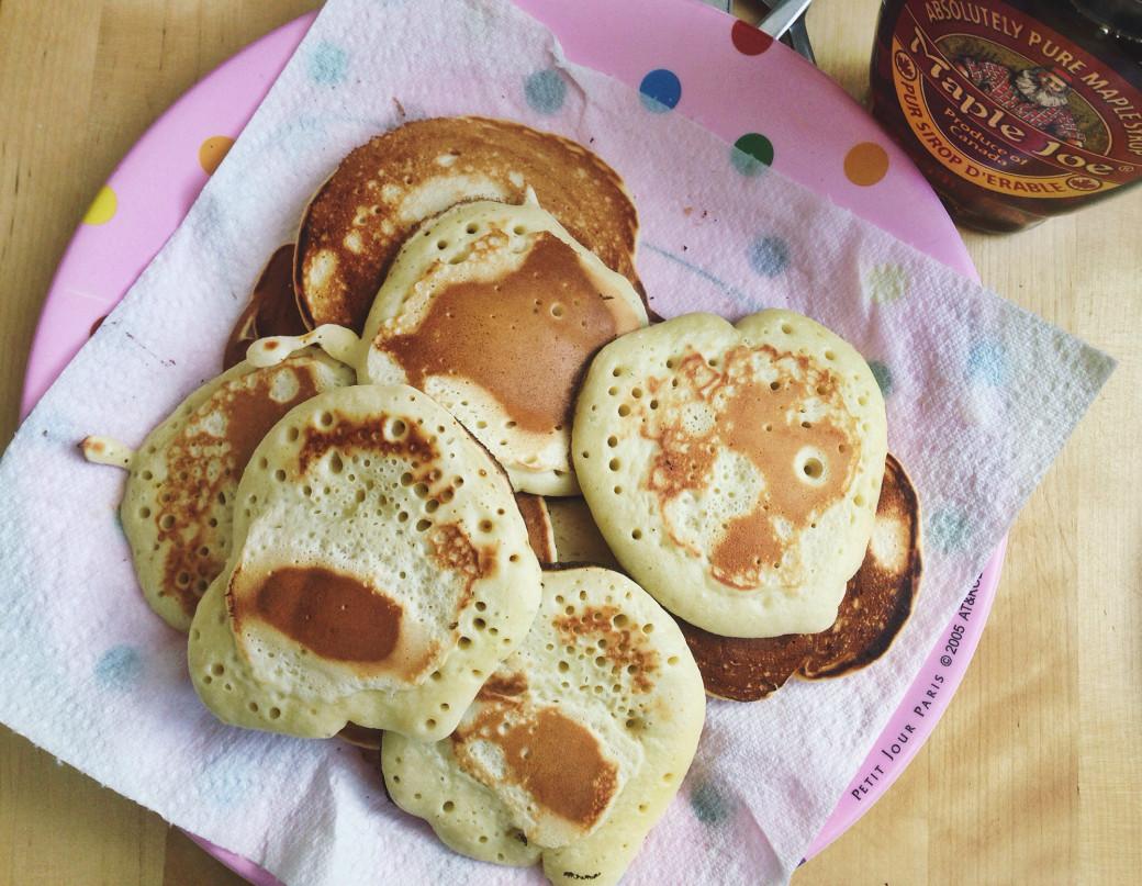 Yummy pancakes sans lactose