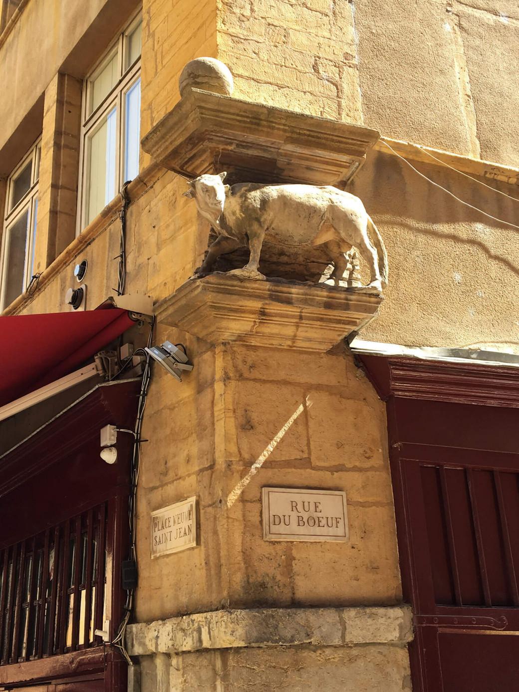Le taureau de la rue du Bœuf, à Lyon
