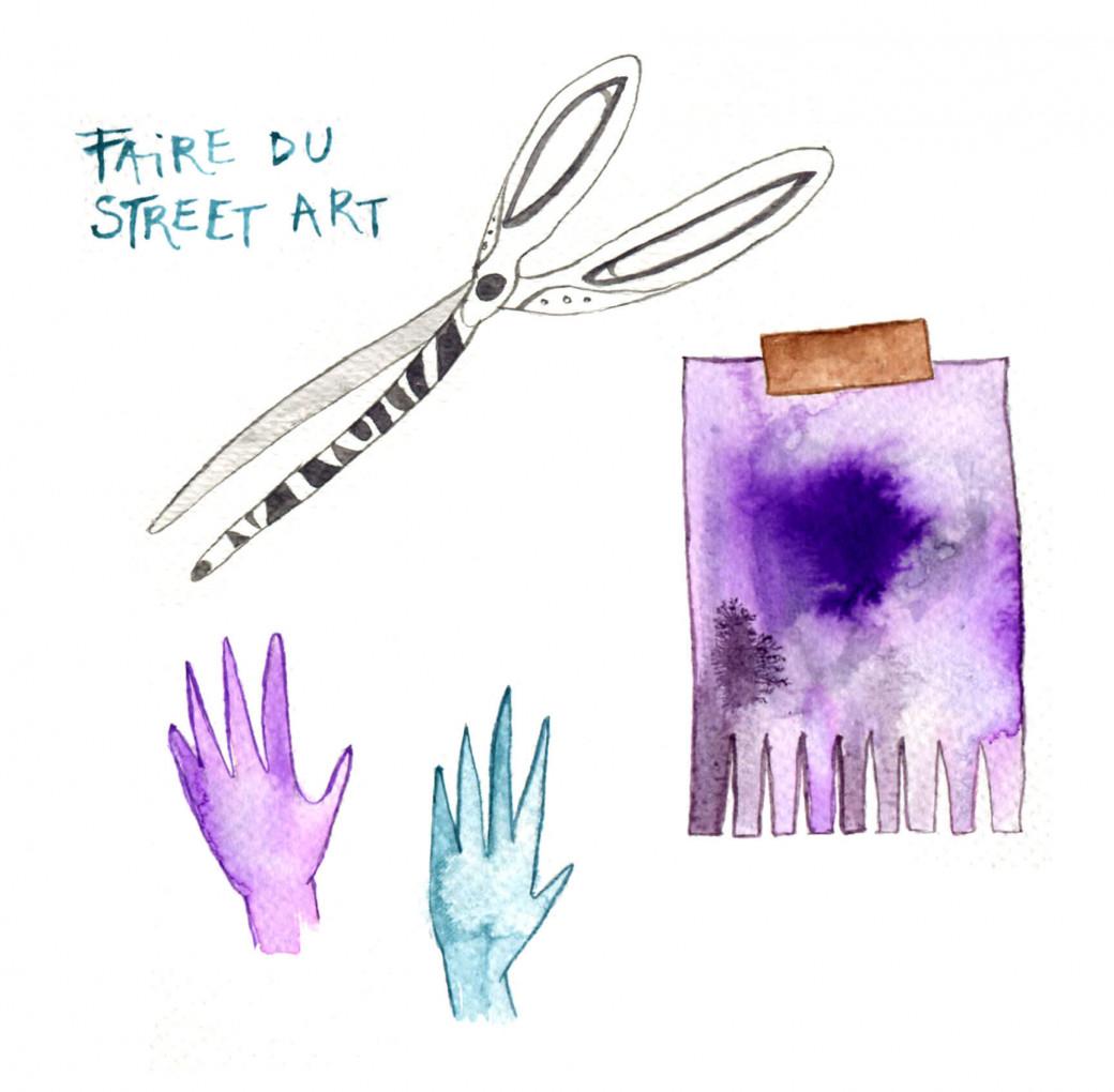 Faire du street art