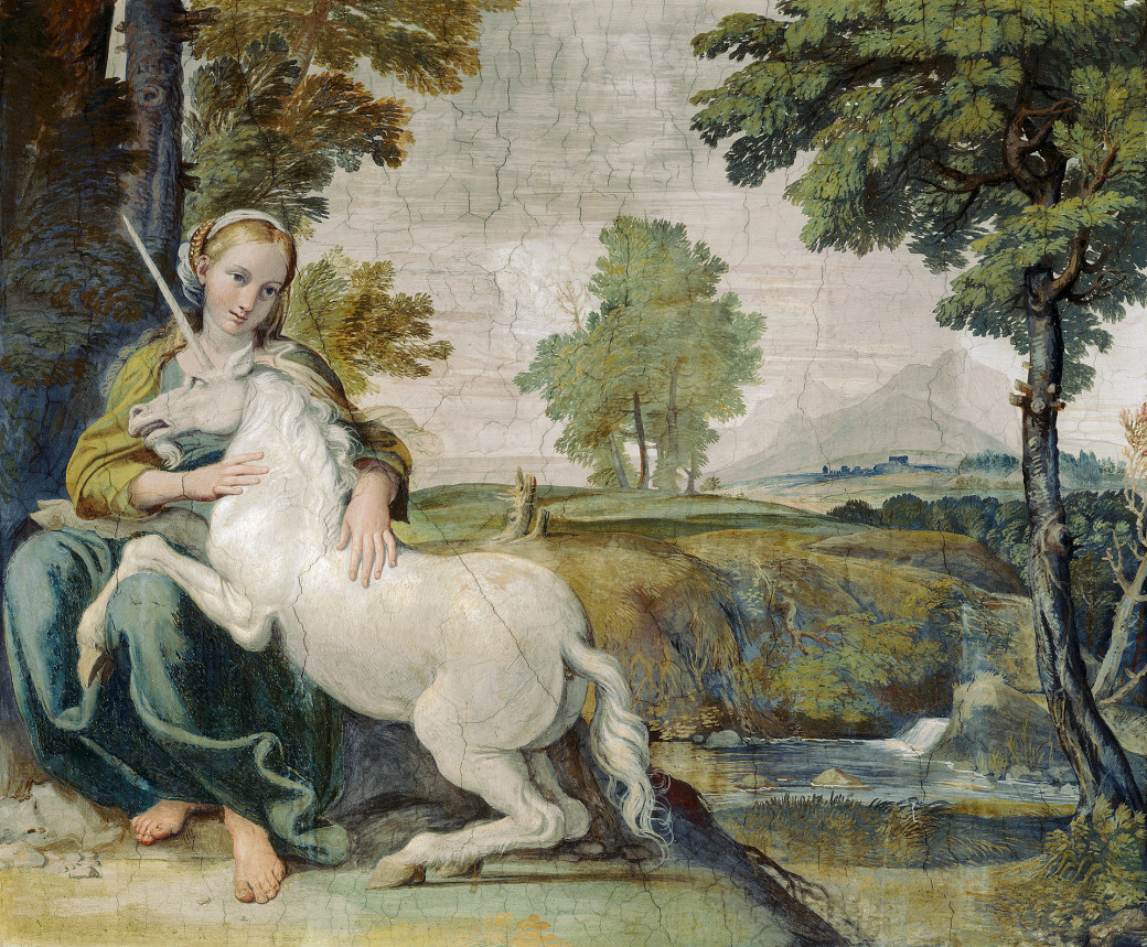 « A young Lady and a Unicorn » de Domenichino (1602)