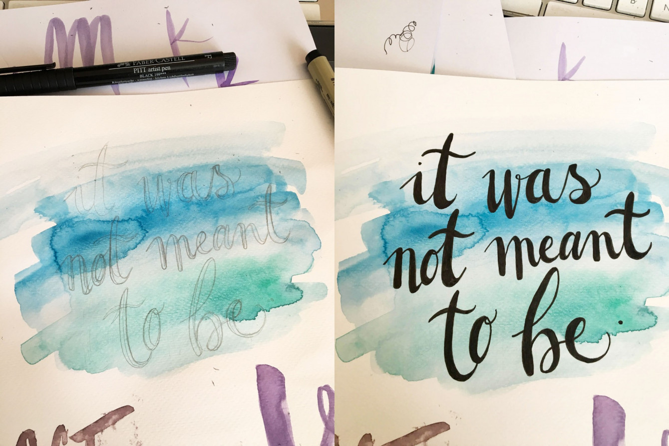 Making of d'un pseudo lettering