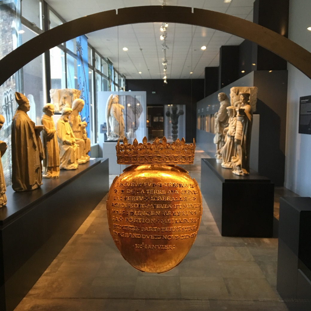La relique du cœur d'Anne de Bretagne, au Musée Dobrée, à Nantes