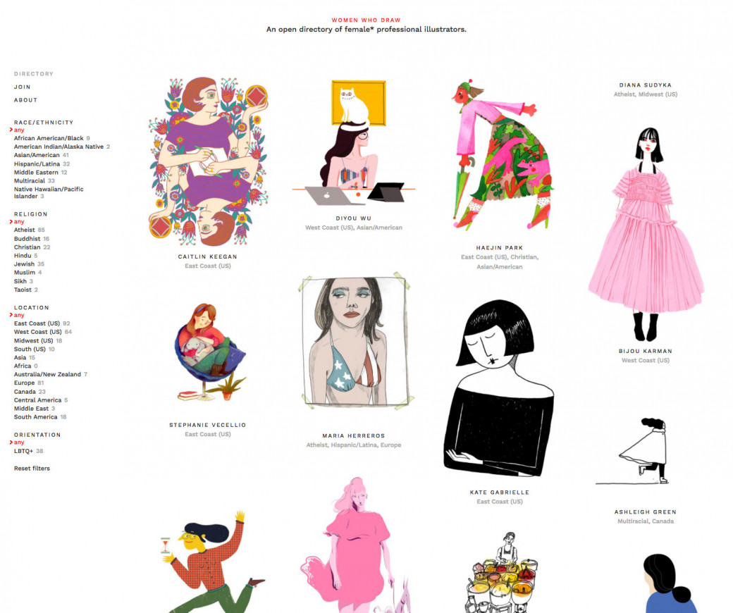 Le site « Women who draw »