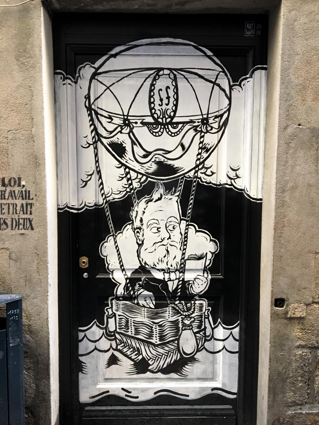 Une jolie porte vue à Nantes