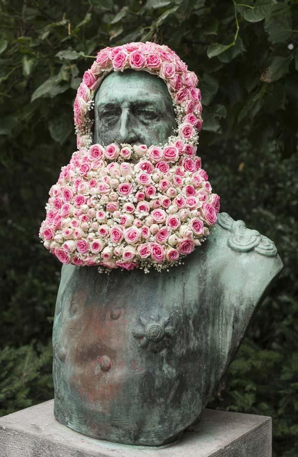 Composition florale de Geoffroy Mottart