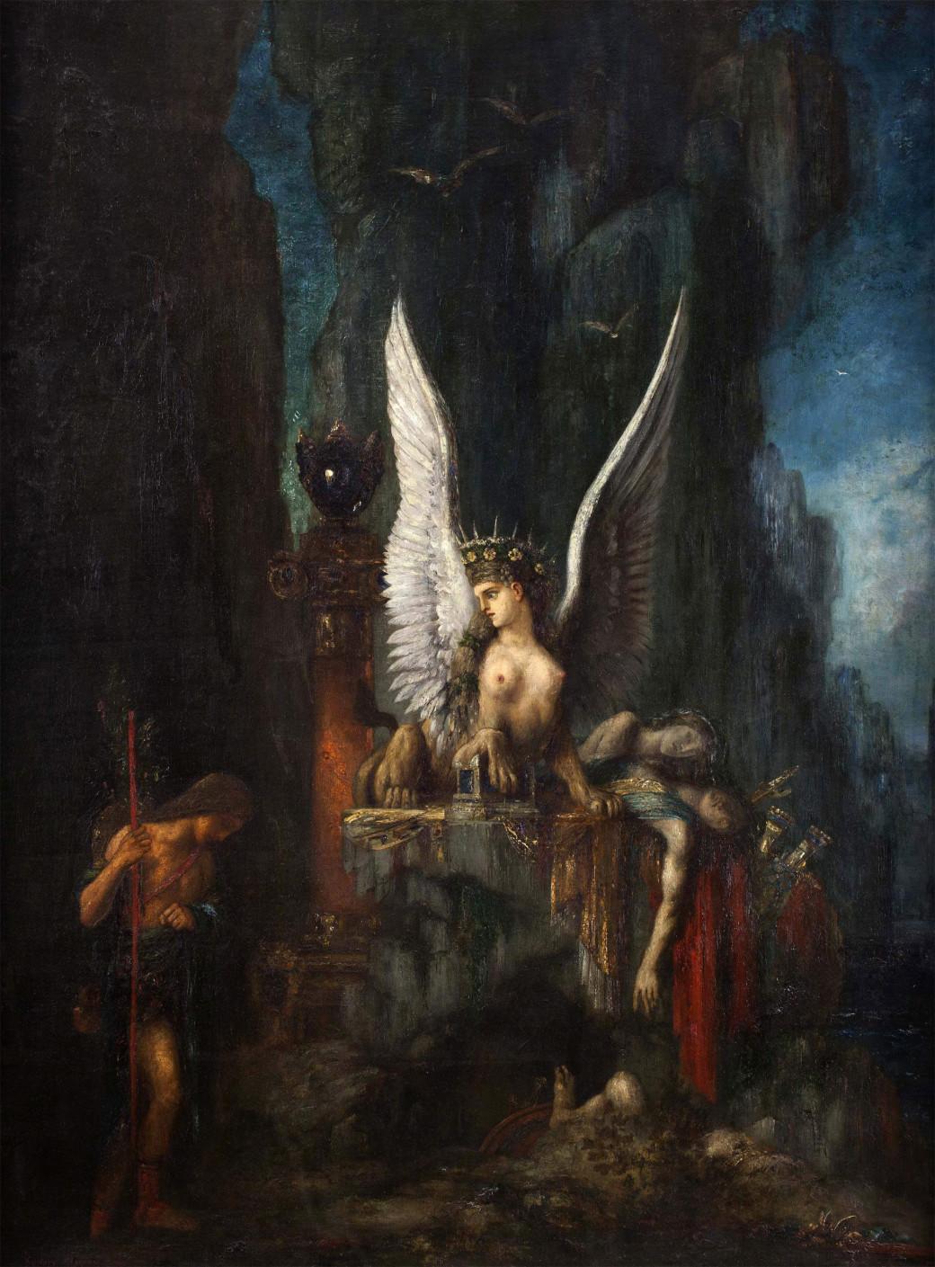 «Œdipe voyageur ou L'Égalité devant la Mort» de Gustave Moreau