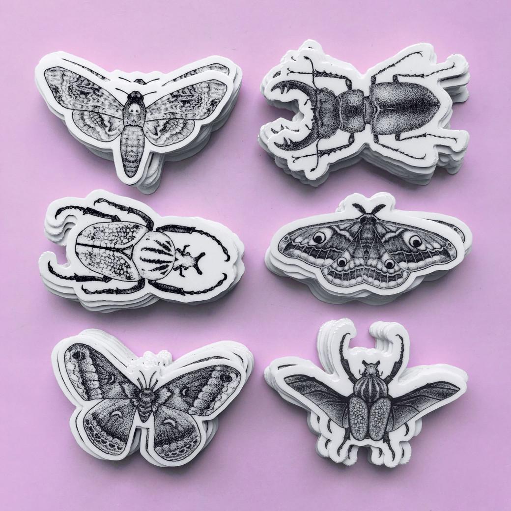 Les stickers créés par Caitlin Stout