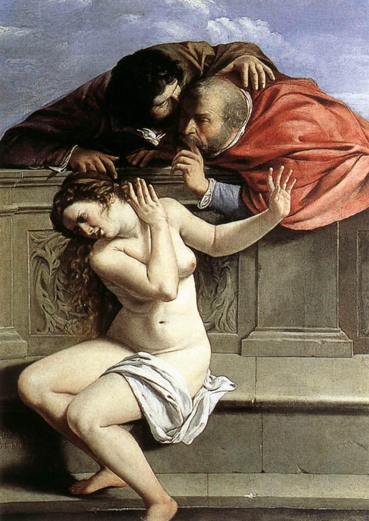 «Suzanne et les vieillards» de Artemisia Gentileschi (1610)