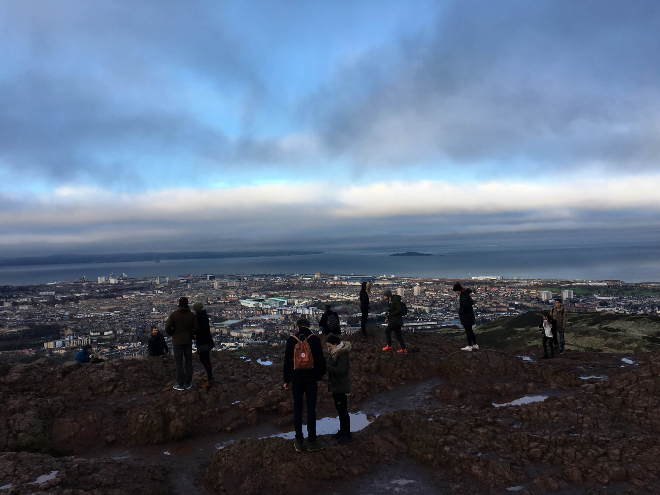 Panorama depuis le sommet d'Arthur's Seat