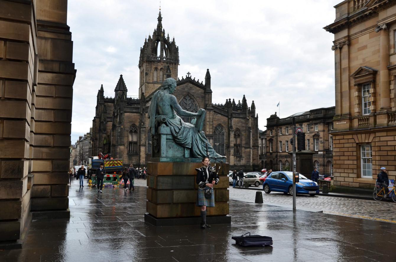 La statue de David Hume