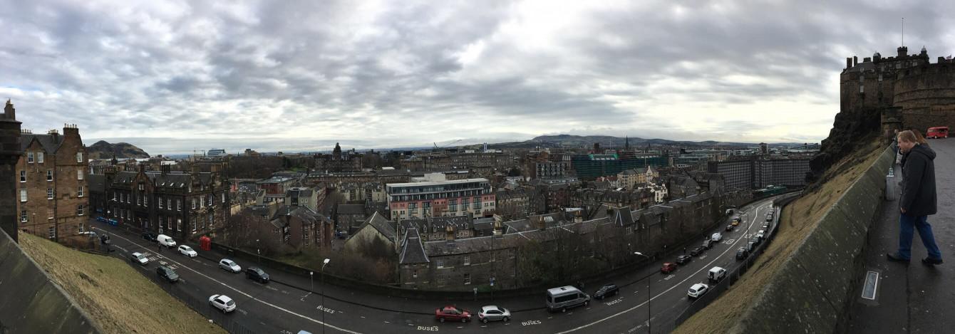 Panorama depuis le chateau d'Édimbourg