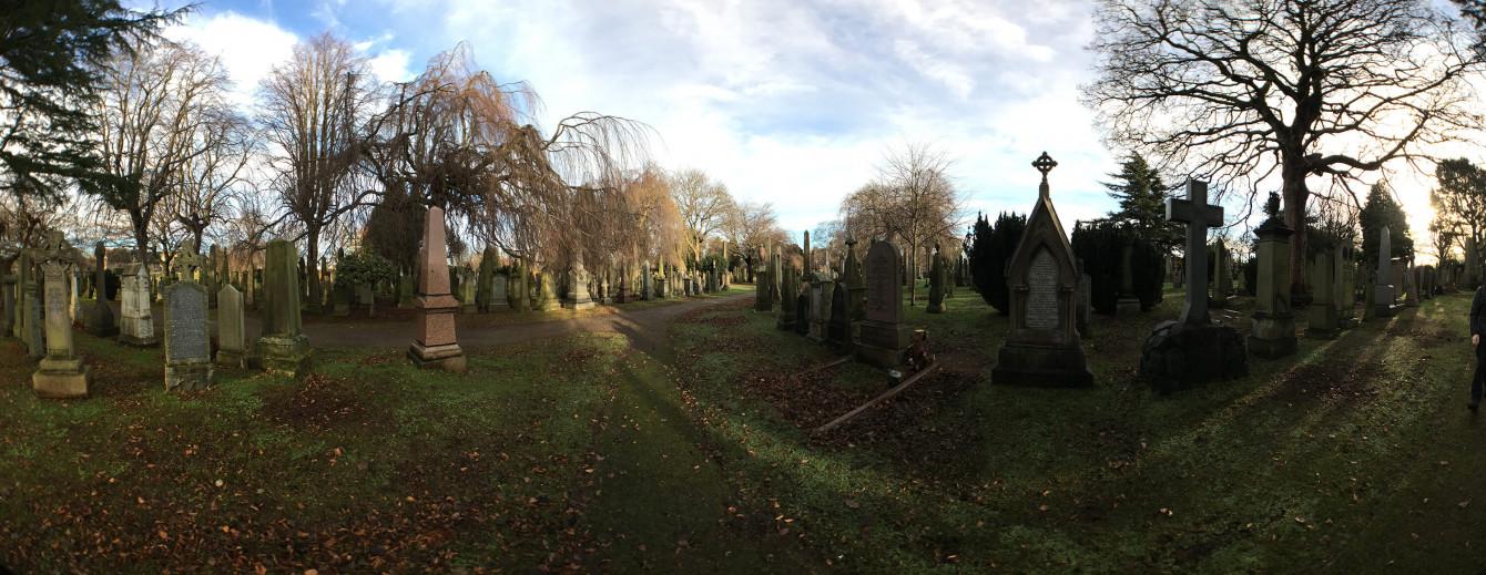 Panorama à Dean Cemetery