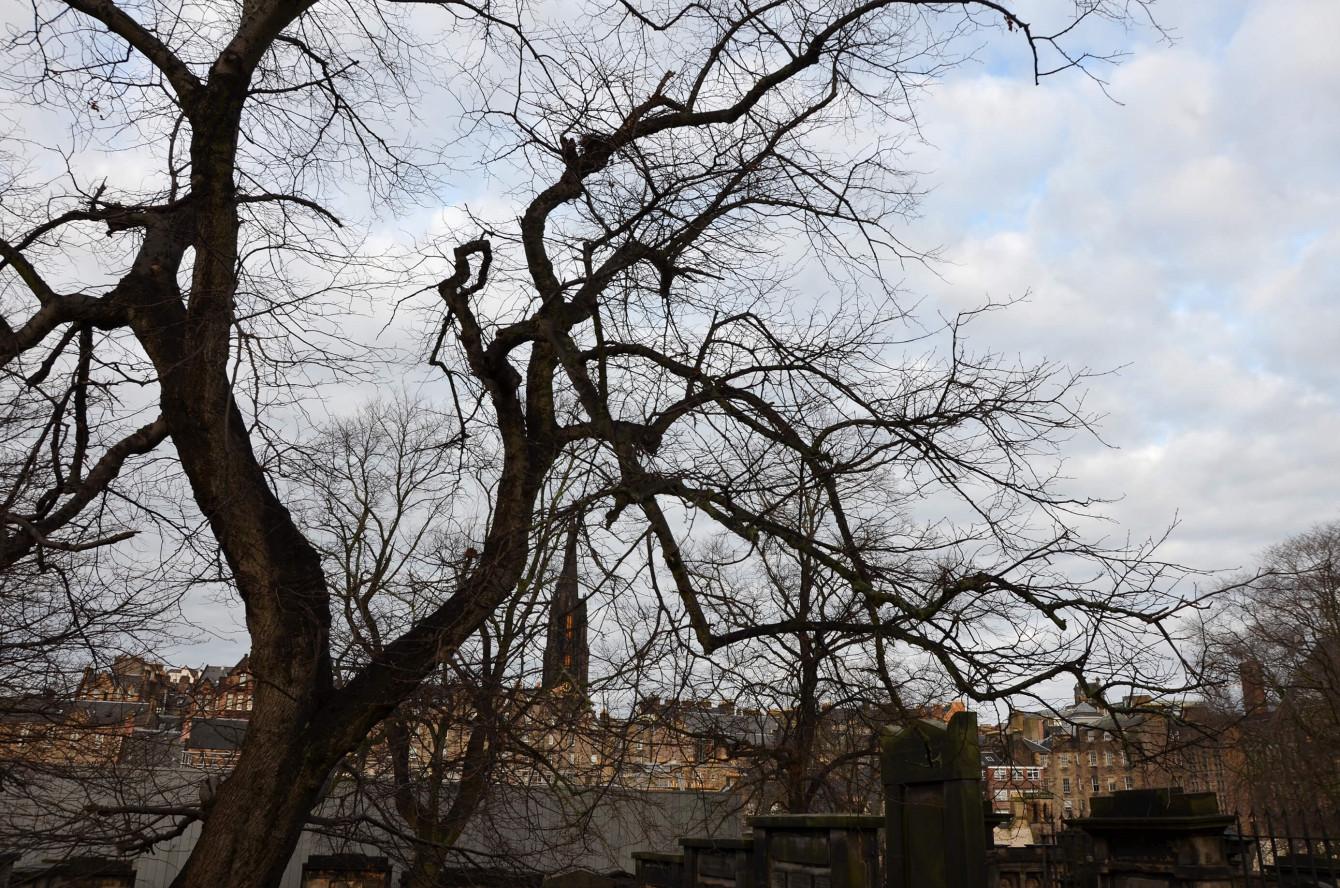 Vue depuis le cimetière de Greyfriars