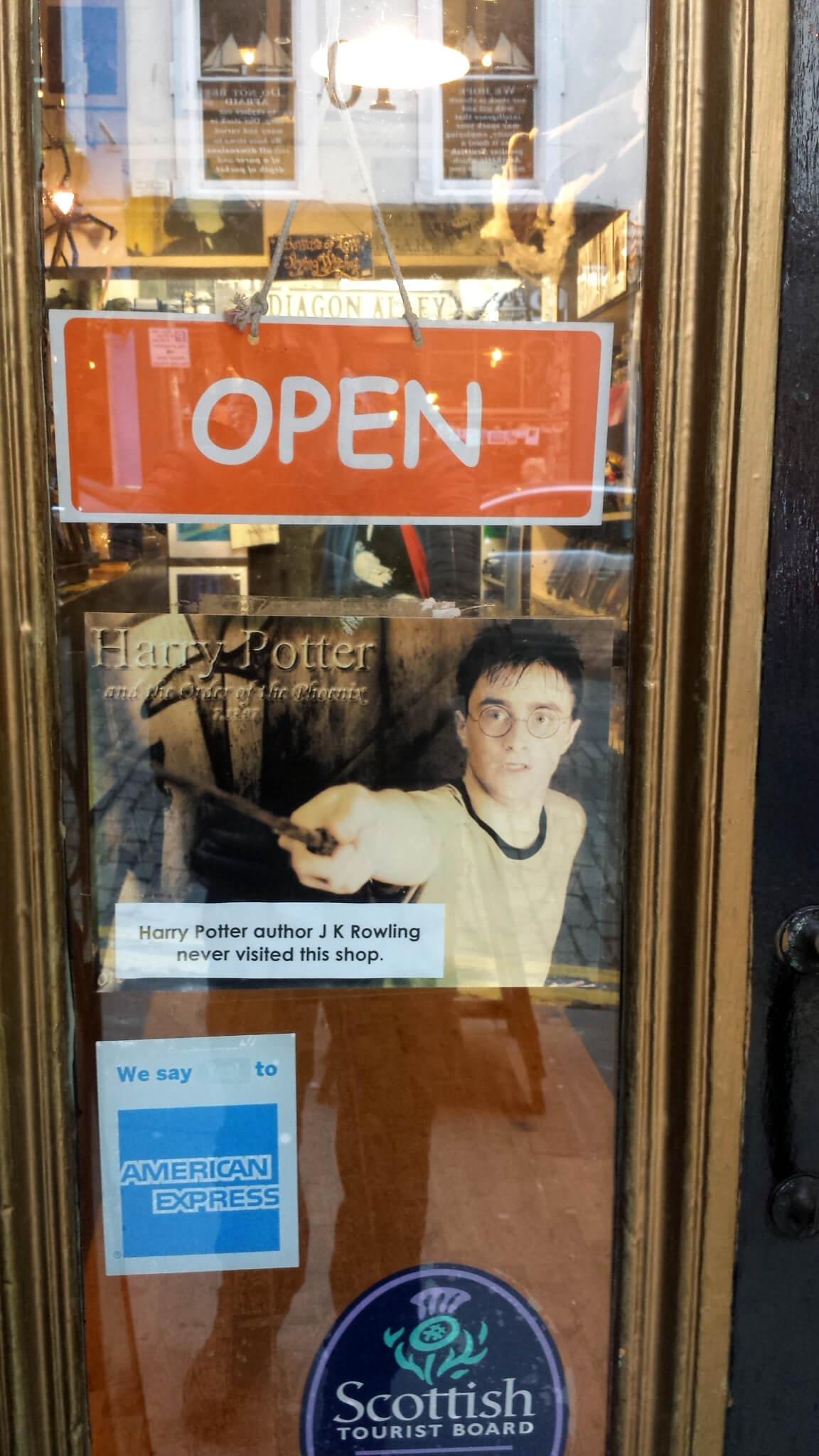 L'autrice de «Harry Potter» n'a jamais visité cette boutique
