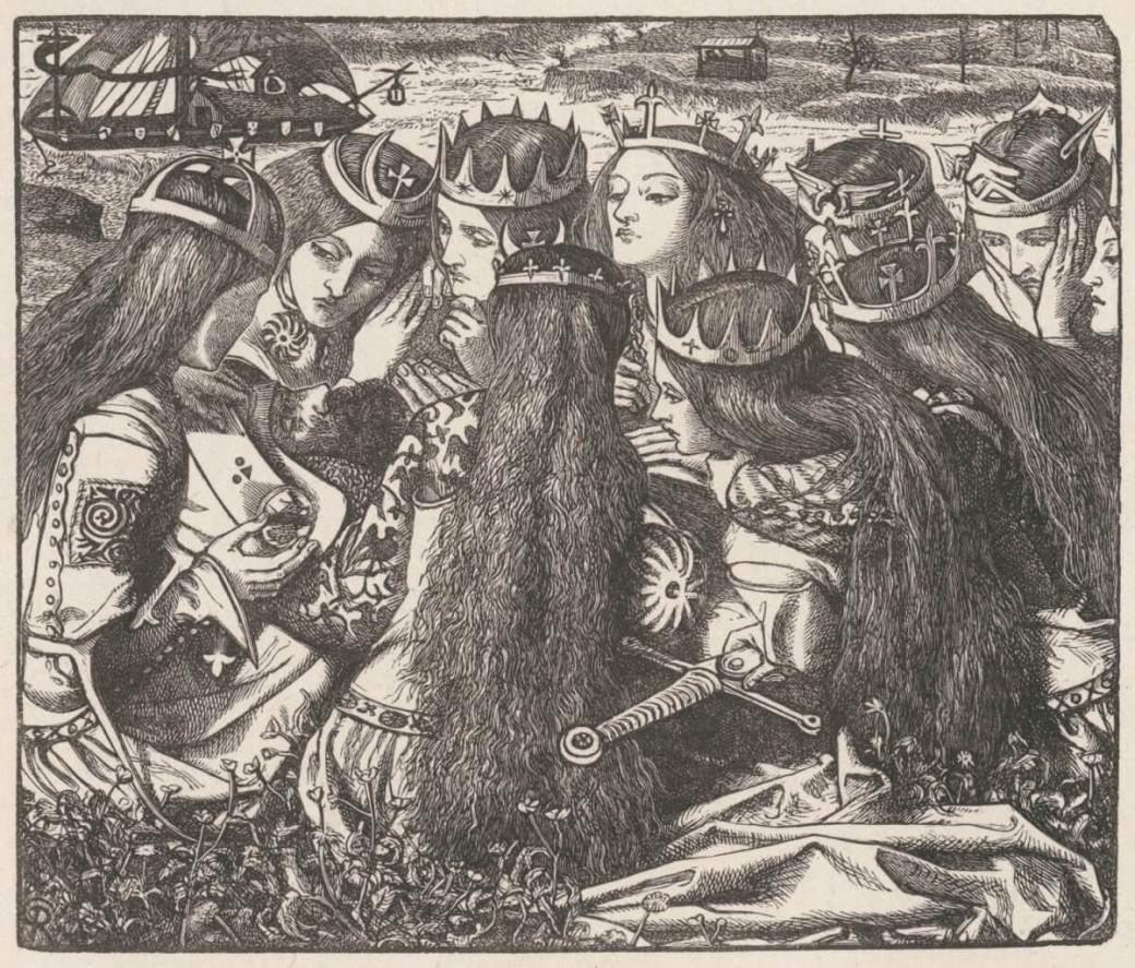 Dante Gabriel Rossetti, « The Weeping Queens »