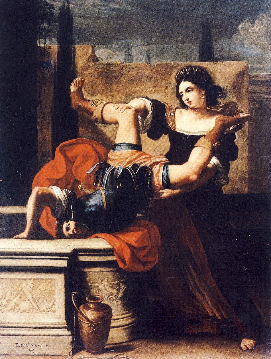Timoclée précipite le capitaine d'Alexandre Magne dans un puits