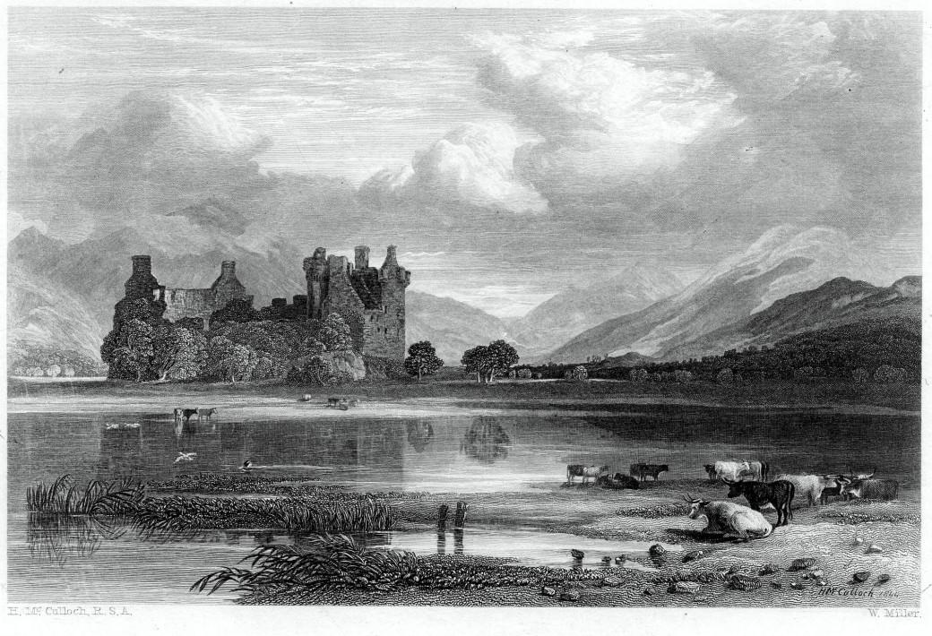 Gravure du château de Kilchurn
