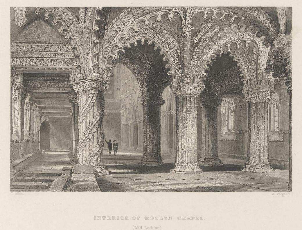 L'intérieur de la Rosslyn Chapel