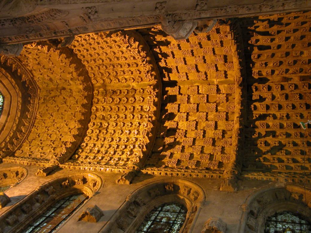 Le plafond du sanctuaire