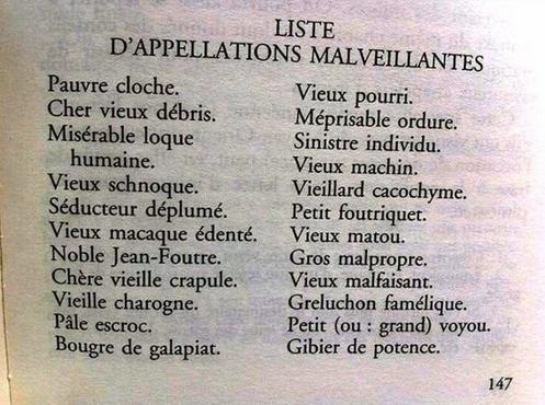 Liste d'appellations malveillantes